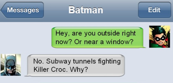 If Superheroes Could Text, Their Conversations Would Look Like This